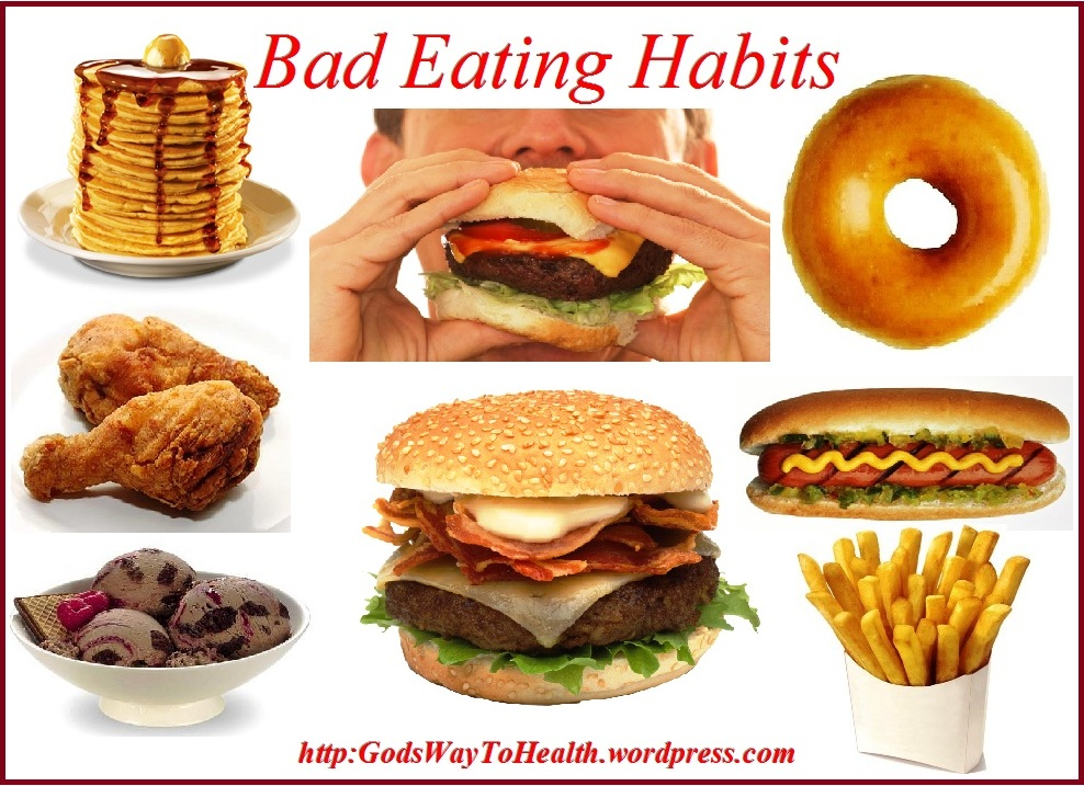 Bad eating habits are more than junk or unhealthy food habits.
