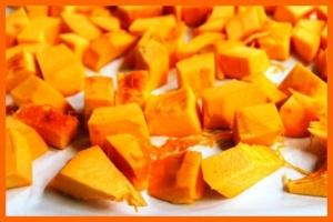 Pumpkin cubed