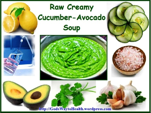Avocado - cucumber creamy soup