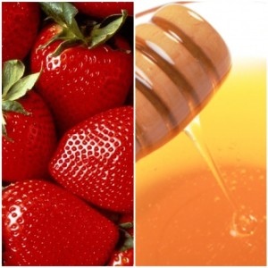 Strawberries and honey