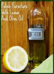 24 polishing furniture with lemon and oil