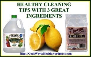 Vinegar, baking soda and lemon