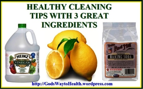 Vinegar, baking soda and lemon